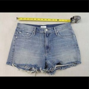 Mother Denim Destroyed Blue Jean Shorts sz 25